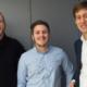 Gewinner der CA Technologies Start-up Challenge (v.l.n.r.): 2. Platz - Bernd Gruber (indoo.rs), 1. Platz - Patrick Kirchmayr (FRUX), 3. Platz - Jakob Etzel (PredictR)