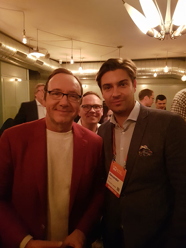 Our Partner Alexander Rapatz with Kevin Spacey at the Speakers Dinner.