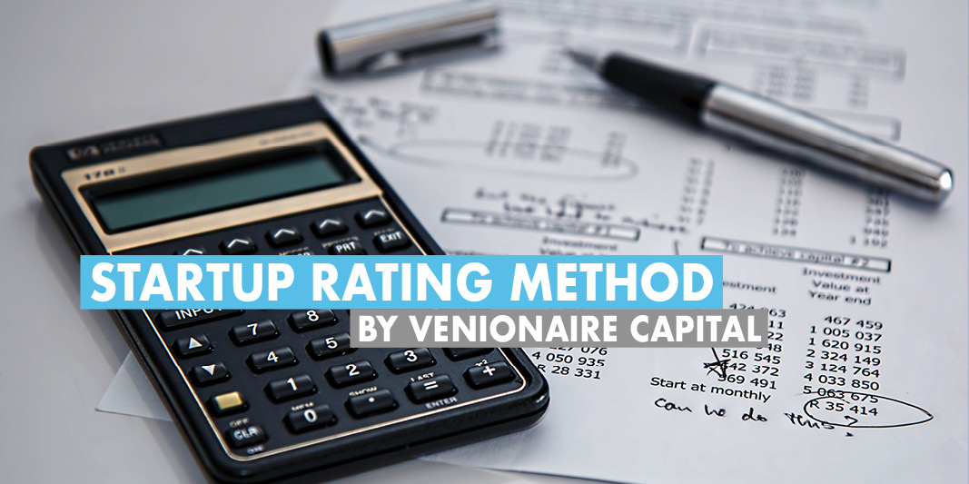 Startup valuation rating method by Venionaire